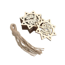 Wood Snowflake Embellishments Rustic Christmas Decorations For Home Xmas Tree Hanging Ornament
