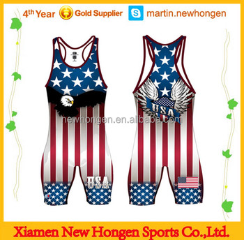 2014 USA Top Quality New Hot Sale Profession Club Wrestling Singlets
