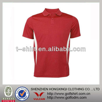 Dry fit golf sports polo shirts men custom golf clothing