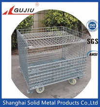 Stackable Galvanize Mesh Box Wire Cage Metal Bin Storage Container Metal Cage
