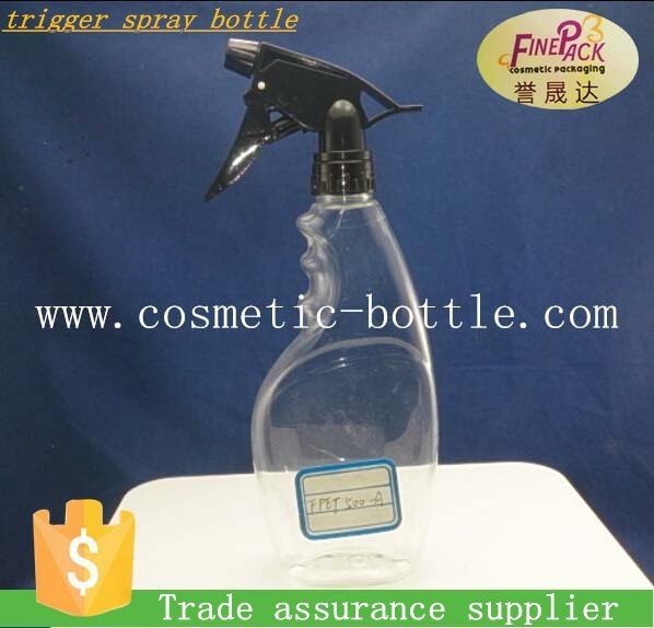 HDPE / PET plastic trigger spray bottle with optional trigger