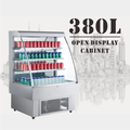 180L To 380L High Efficient Glass Door Open Convenience Store Chiller With LED Lights
