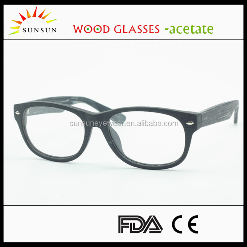 2016 new custom wood optical glasses handmade frame
