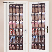 24 Pockets Over The Door Clear hanging Shoe Storage Bags Organizer