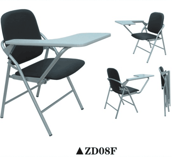 Sale metal folding chairs student chair with tablet arm ZD08F