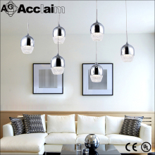 Europe design beautiful chrome crystal chandelier home decorative silver hanging pendant lights