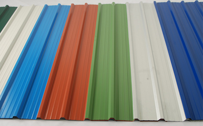 AISI ASTM GB Steel Roofing Sheets Long Span Color Coated Corrugated Roofing Sheet / PPGI corrugated roofing sheets