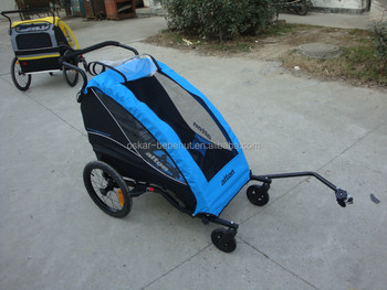 New Design Baby Bicycle Trailer for only one children with two small front wheel