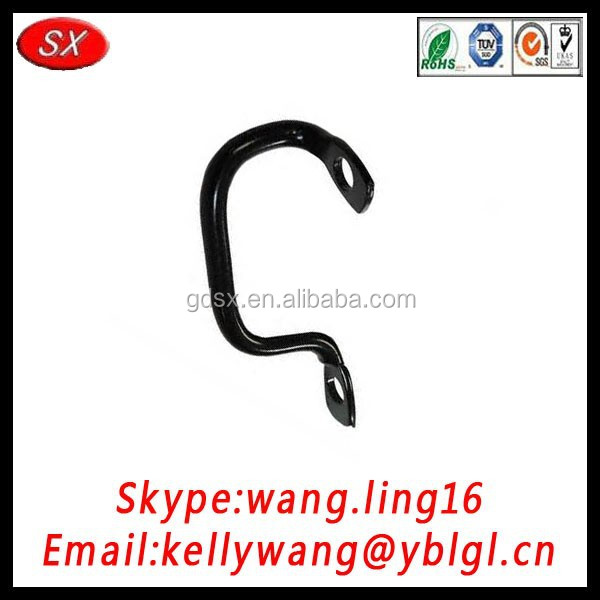 Dongguan factory OEM black metal brackets, C braclets, table leg brackets passing RoHS