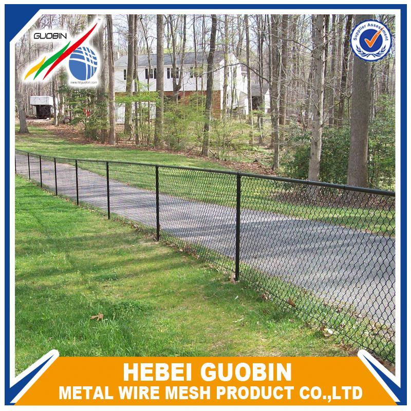 High quality green woven chain link fence