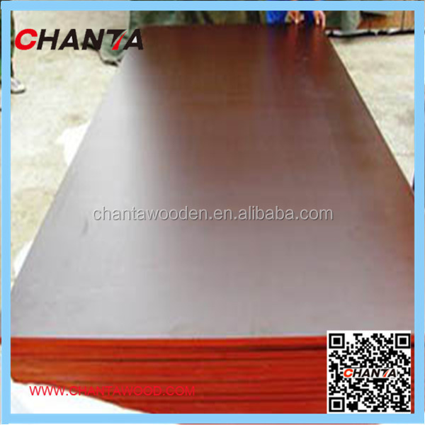 1220X2440 WBP melamine poplar brown black red laminated plywood construction building materials