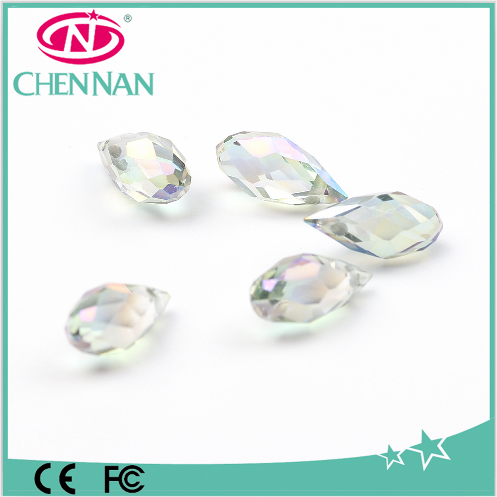 Pujiang factory wholesale glass teardrop loose beads