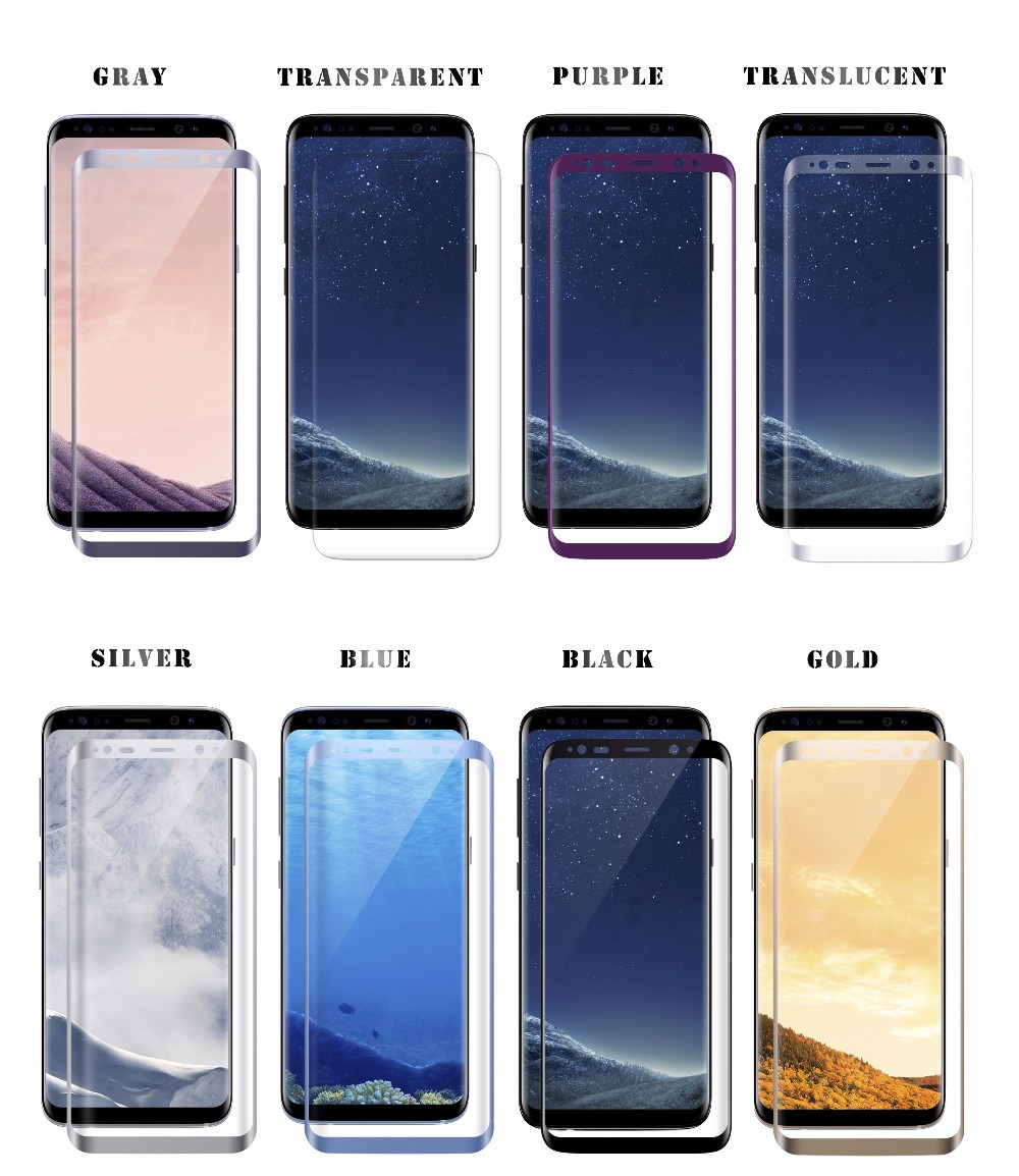 case friendly 3D Curved 9H Premium Full Coverage Tempered glass screen protector & screen guard for Samsung galaxy S8 / S8 Plus