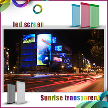 electronic full color p15.625 mesh transparent led display