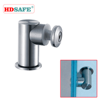 Stainless steel toilet room design wall to glass connector SA9000A-6