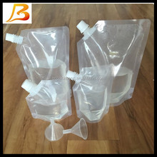 Wholesale custom wine spout pouch and liquid stand up pouch with spout