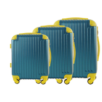 3PCS 56CM 66CM 76CM Carry-On Four Spinner Abs Trolley Luggage