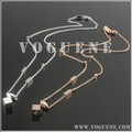fashion square pendant love silver steel necklace