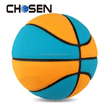Promotional and gift size 7 rubber basketball ball with custom logo printing