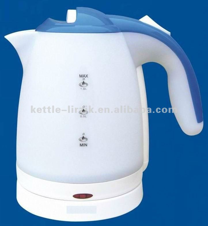 hot drinking water kettle/water heater for car/rotating toaster plastic electric kettle KP10S