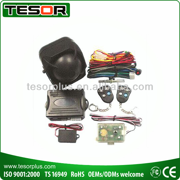 Car Alarms with wireless siren/hood/trunk system