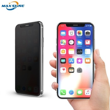 For iPhone X Privacy Screen Protector Case Friendly Cell Phone Anti-Spy Tempered Glass Film 9H Screen Protector
