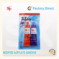 China best quality and low price acrylic AB glue in wood metal and all universal use