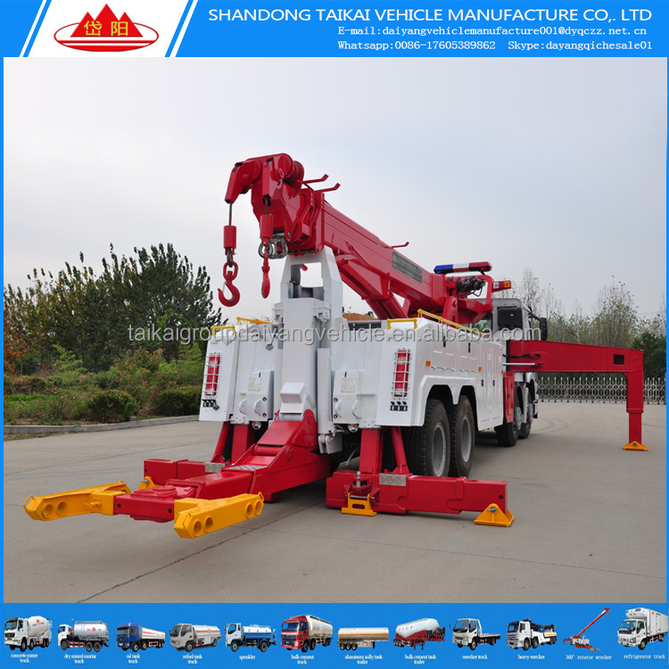 30 ton 360 degree rotator rotary 8x4 rotator recovery truck for sale with remote syestem