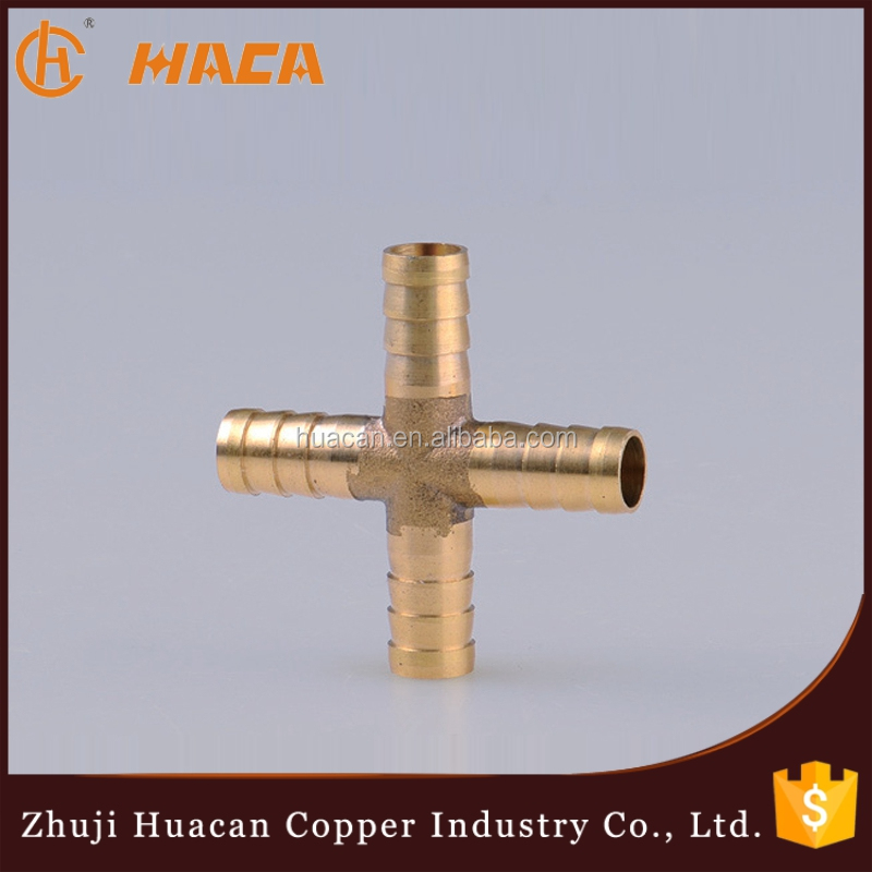 Numerical Control Machine Produce Brass Cross Hose Pipe Connection,Brass Fitting