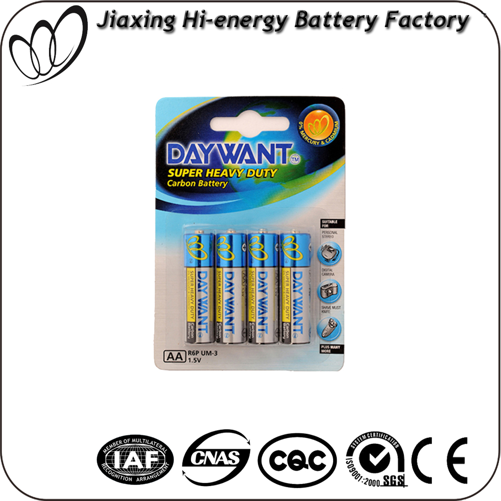 AA SIZE UM3 R6P Foil Jacket dry battery 1.5v