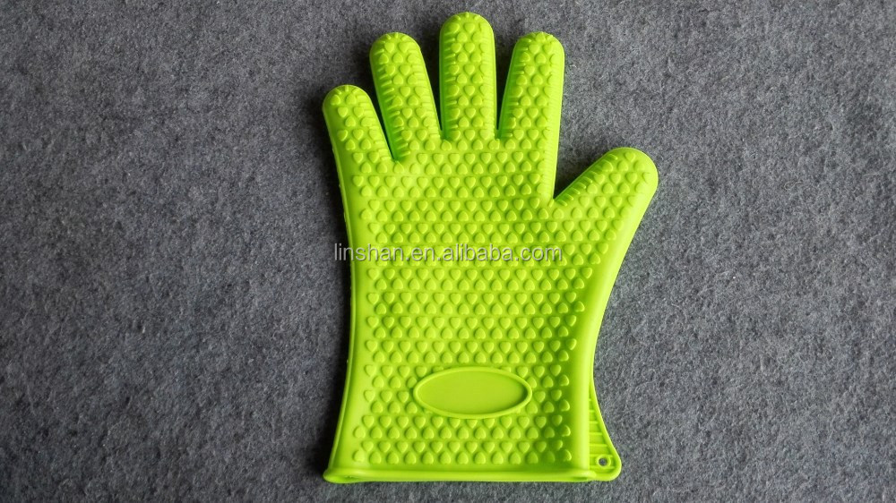 Pot Holder Cooking Baking Oven Silicone Glove Mitts Heat Resistant Green