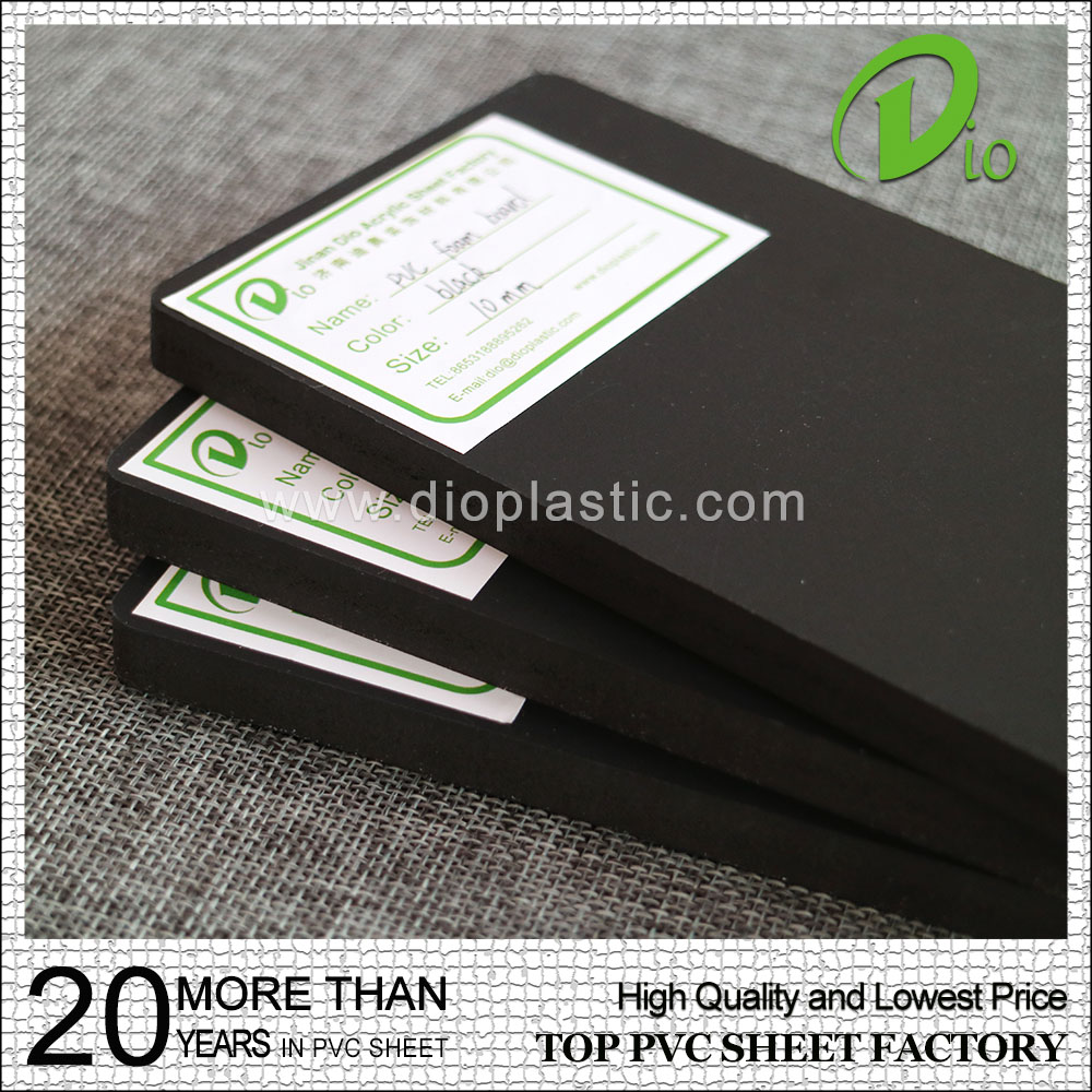 5mm 8mm 10mm 12mm hard surface black plastic pvc foam sheet