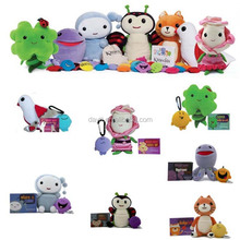 "Educational toys for baby colorful 7"" Kimochis muppets stuffed <strong>animals</strong> with keychain"