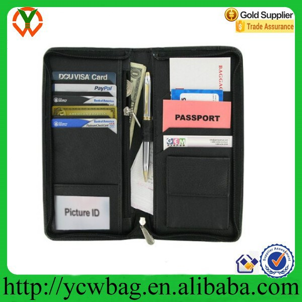 leather credit card holder zipper wallet