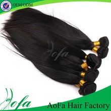 Well accepted in America shiny silky straight brazilian virgin hair 7a