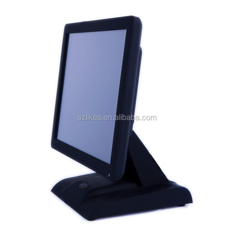 China manufacturer 17inches pos monitor 4 wire resistive touch screen