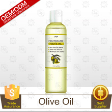Factory Supplier 100% Pure and Natural Olive Oil 200ml,Body Massage Oil Private Label