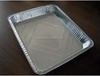 Disposable large rectangle fast food grade aluminum foil food tray