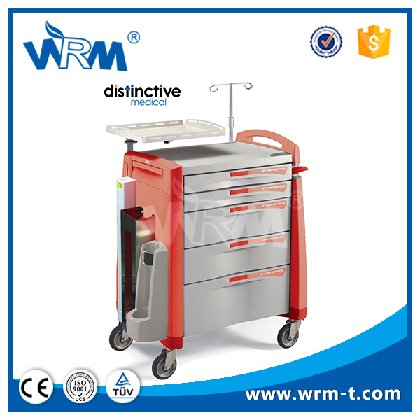 ABS plastic emergency medicine trolley,hospital pharmacy equipment