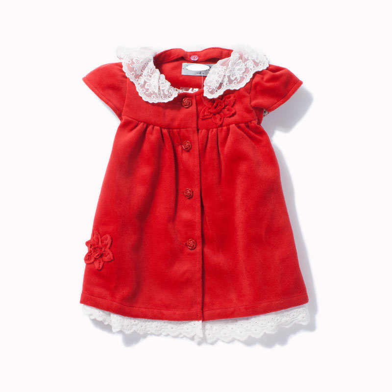 Children's clothing autumn and winter female 2013 child skirt red woolen tank dress autumn and winter baby child princess dress