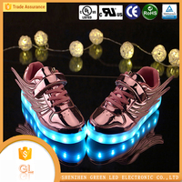 Latest girl footwear design cheap shoes LED colorful used shoes for children