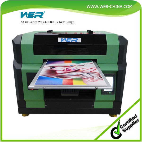new design A3 WER-R2000UV CE approved with economical price,iphone case printer