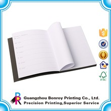PU leather coated softcover custom lined paper notebook with elastic band