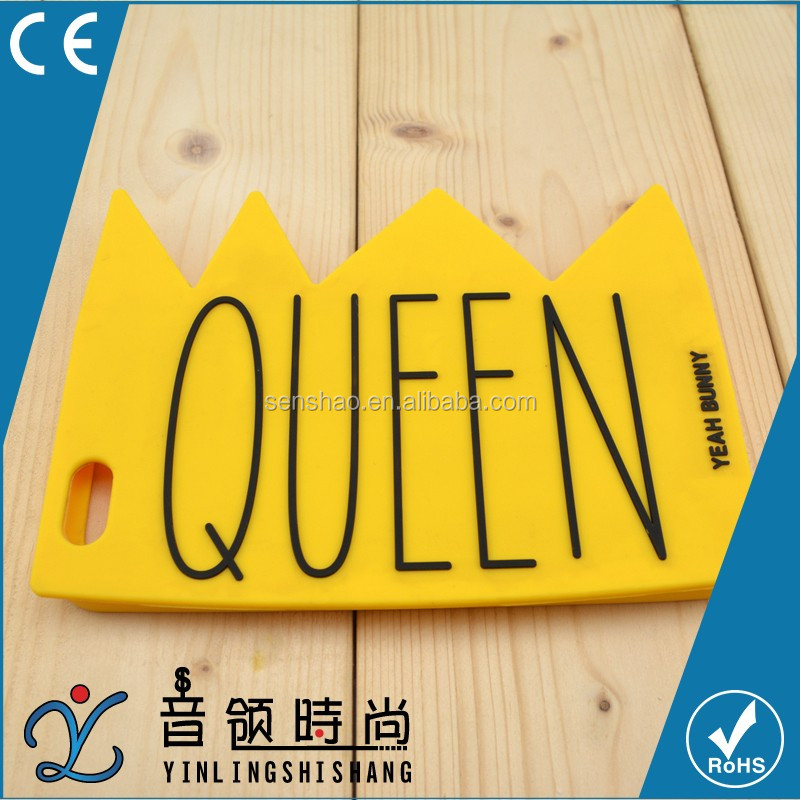 Wholesale slim smart phone covers for Iphone 6/6s, fashion cheap 3D silicone queen Crown shape for girls