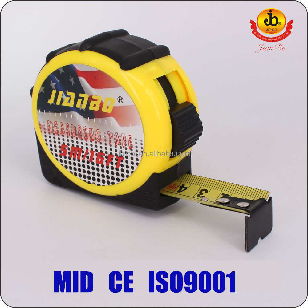 "16ft 25ft 1""width measuring tape wholesale water proof steel 3m/5m/7.5m measuring tape"