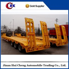 CIMC 4-axle hydraulic low bed semi trailer dimentions with load capacity 60 tons