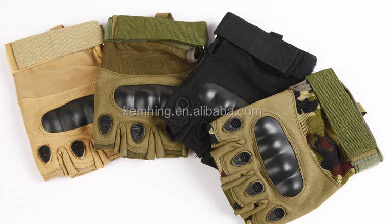 High Quality Protective Full half Finger Microfiber sports Military Tactical Training Gloves military