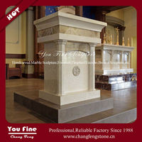 Carved Excellent Marble Catholic Altar Table