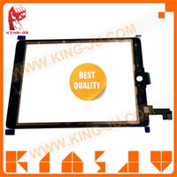 King-Ju China supplier offer nice price for iPad Air 2 LCD assembly with touch screen digitizer + bezel + flex cable