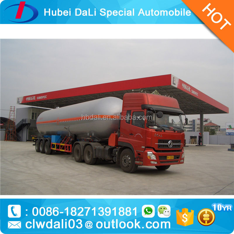 60CBM dongfeng LPG semi trailer tractor truck